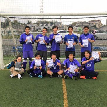 【大会結果】11月3日(日)マリノス東山田ソサイチ大会 F2クラス